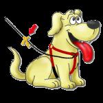 Gele hond plaatje